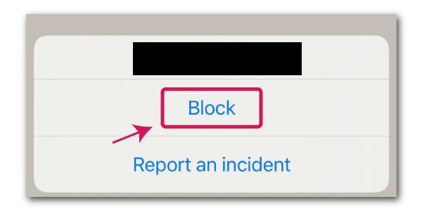 clubhouseでユーザーをブロック&ブロック解除方法